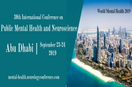 We stretch out a warm welcome to our 30th International Conference on Public Mental Health and Neuroscience held amid September 23-24, 2019 in Abu Dhabi, UAE.