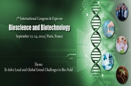 Bioscience-2019 brings you all Leading Academic Scientist, Researchers and research scholars to exchange and share their experiences and research results about all aspects of Bio-field. Bioscience-2019 gathers all recent innovations, trends, and concerns, new challenges and the solutions adopted in the Bio-field.